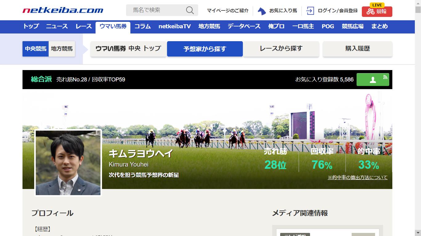 キムラヨウヘイ(netkeiba.com)の口コミ・評判・評価